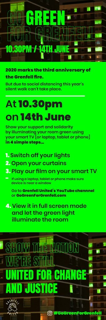 Go Green for Grenfell Instructions